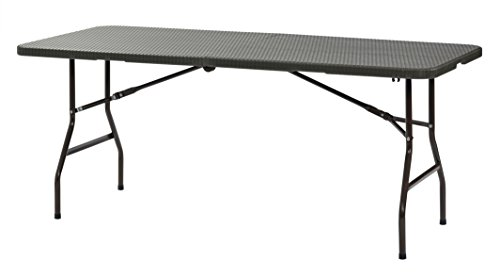 Sandusky Lee FPT7230BR Plastic Fold in Half Table 29quot Height 72quot Width 30quot Length Brown