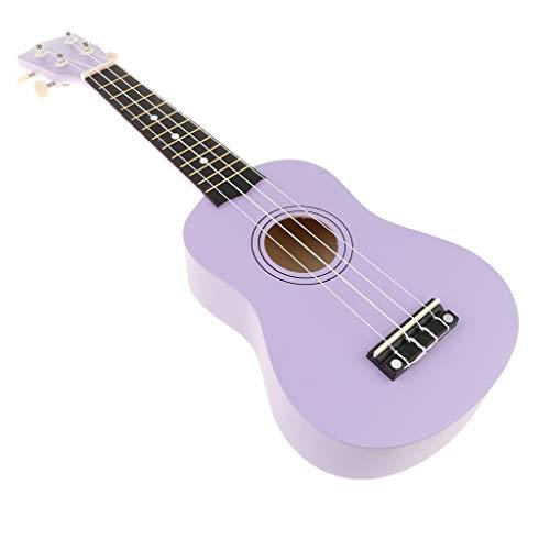 Mini Ukulele Sopran Hawaii Gitarre Musik Spielzeug mit 4 Saiten, Geschenk für Kinder und Freunde - Lila