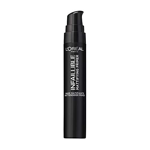 L'Oréal Paris Infaillible Mattifying Primer, matterende make-up primer, met anti-glanseffect, bereidt de huid optimaal voor op de make-up