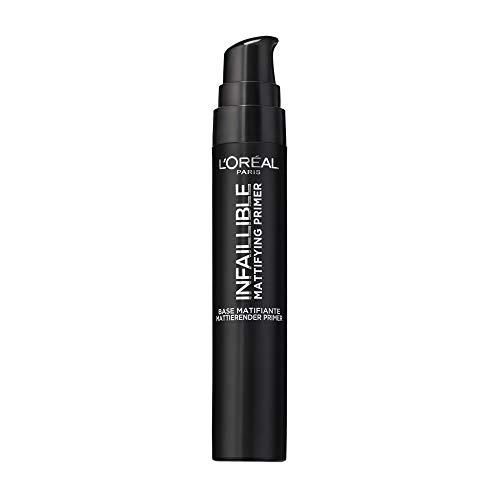 L'Oréal Paris Infaillible Mattifying Primer, mattierende Make-up-Grundierung, mit Anti-Glanz-Effekt, bereitet die Haut optimal auf das Make-up vor