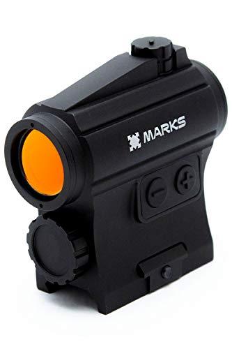 【実銃対応のドットサイト】 (MARKS) HD-1 Titan ドットサイト t1 IP67防塵防水 800G耐衝撃 20mmレール 対応 実物 米国タクティカル仕様 3MOA サバゲー レッドLED ルビーコート 1倍 ブラック メーカー1年保証[日本生まれの光学機器ブランド]