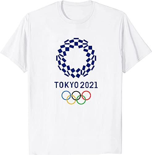 Byairls Camiseta 2020 Juegos Olímpicos Tokio Japón 2021, blanco, 50