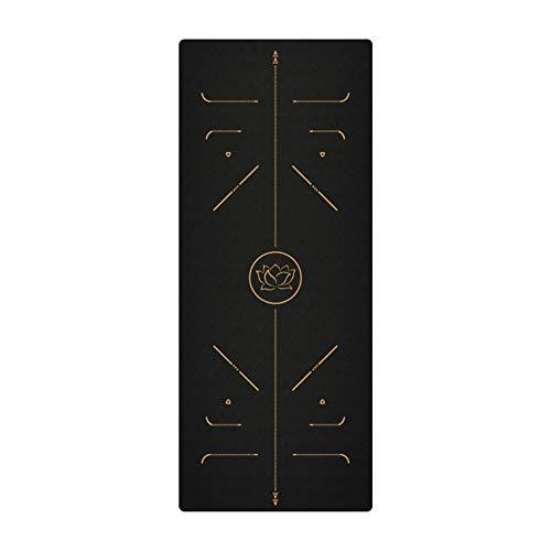 Esterilla de yoga Tpe material de protección del medio ambiente antideslizante cómodo portátil impresión alfombra gruesa alargada ampliada, para gimnasia en casa pilates (04)