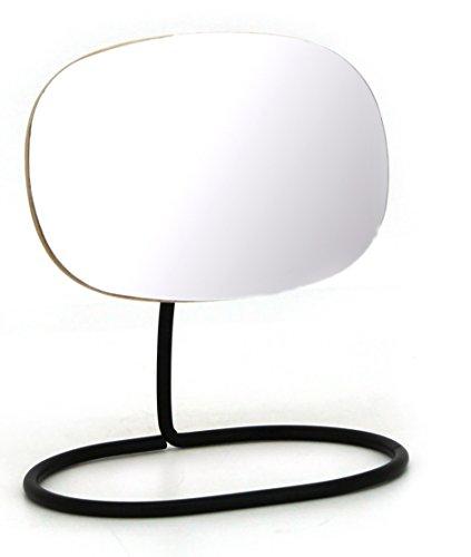 Meubletmoi Miroir Maquillage beauté Zoom - Rotatif Multi-Angles sur Socle métal Noir