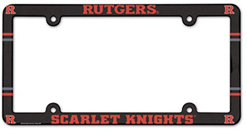 WinCraft Rutgers Scarlet Knights Plastic License Plate Frame
