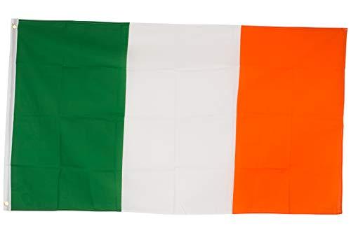 SCAMODA Bundes- und Länderflagge aus wetterfestem Material mit Metallösen (Irland) 150x90cm