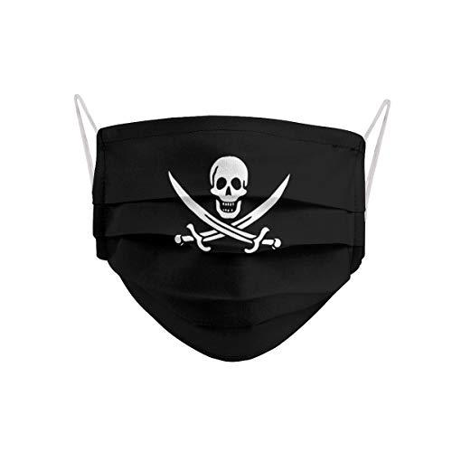 Cencibel Smart Casual Mascarilla Pirata Calavera y Espadas Cruzadas