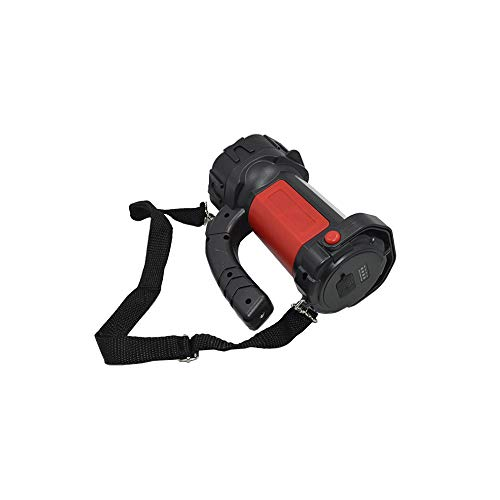 Linterna grande Select Zone, LED, recargable, luz de trabajo, luz deslumbrante, gancho con linterna de mano, linterna para camping (rojo)