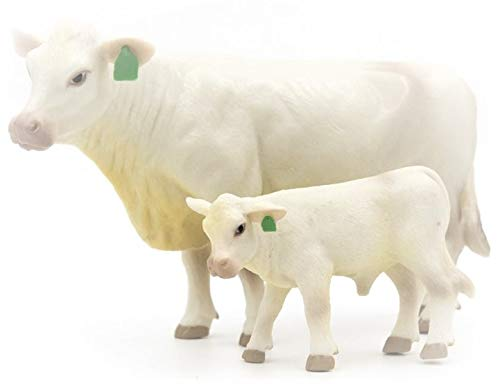 Little Buster Toys Charolais Cow and Calf Pair - 1/16th Scale