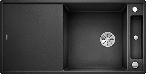 Blanco Axia III XL 6 S, Küchenspüle aus Silgranit PuraDur, reversibel, Anthrazit-schwarz / mit InFino-Ablaufsystem, inklusiv Glasschneidbrett und Ablauffernbedienung; 523510