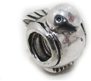*Sale* EvesErose Silver Lovely Bird Bead Charm For Authentic Pandora Charm Bracelet Troll Chamilia Biagi European Jewelry