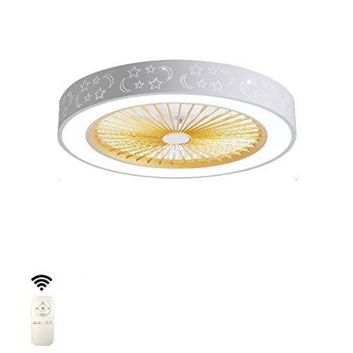 Ventiladores para el Techo con Lámpara Ventilador de techo con luz LED y techo a distancia de control creativo Modern Fan En silencio Ventilador de techo dormitorio ventilador de la lámpara Niños Sala
