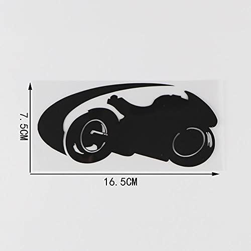 PMSMT Pegatinas para coche, 2 unidades, locomotiva padrão carro adesivo decalque do vinil deocrate 16 5 cm x 7 5 cm, color negro