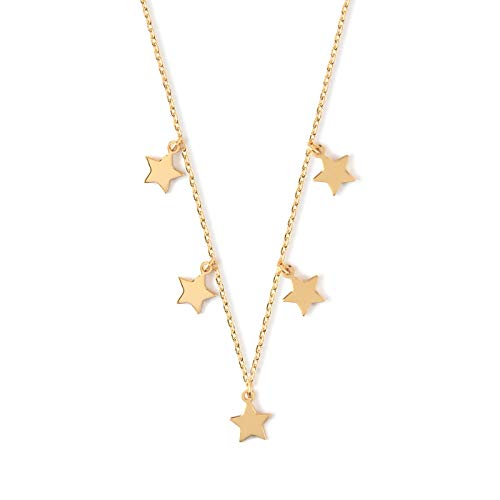 Orelia Damen Kette Star Charm Multi Drop Short Gold One Size