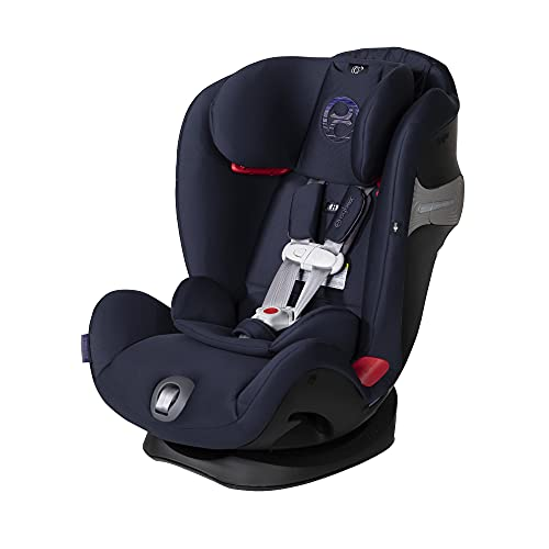 Cybex Eternis S, All-in-One Convertible Car Seat, (Non-SensorSafe) Use from Birth to 120 lbs, 12-Position Height-Adjustable Reclining Headrest, Side Impact Protection, Denim Blue
