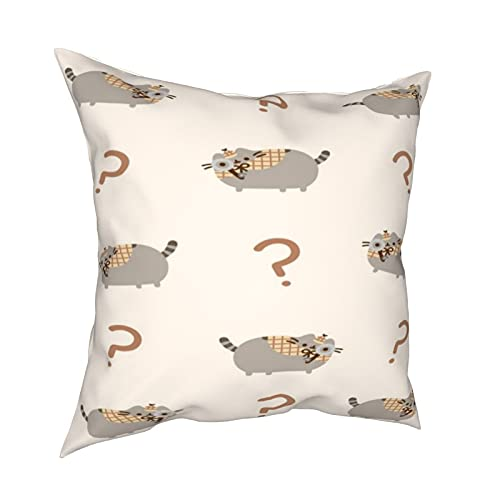 Question Push_Een - Federa per cuscino con motivo gatto, decorazione per la casa, con cerniera, per letto e divano
