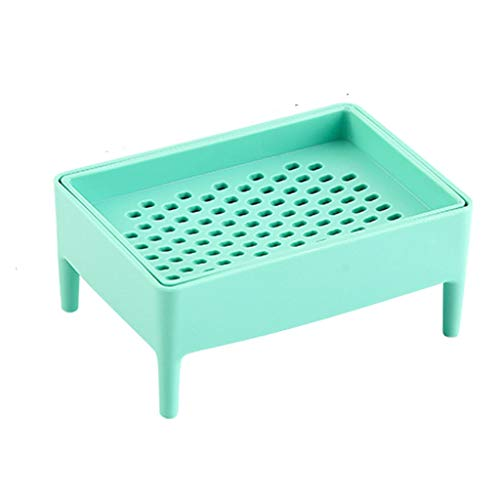 ZAIZAI Caja de jabón de rallado de multifunción Creativa Cuarto de baño Plato de jabón de Drenaje de Doble Capa Caja de plástico Accesorios de baño (Color : A)