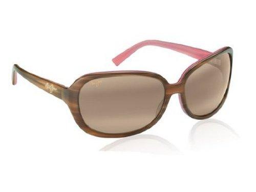 Big Sale Best Cheap Deals Maui Jim Women's Rainbow Falls H225-12 Polarized Oval Sunglasses,Cinnamon & Bubblegum Frame/HCL Bronze Lens,One Size