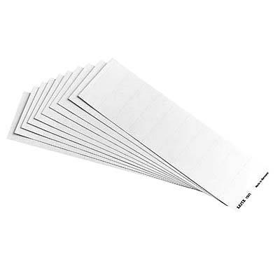 100 LEITZ Hängeregister - Beschriftungsschildchen / 60,0 x 21,0 mm / Karton/ für LEITZ Alpha / weiß