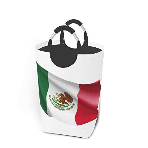 mallcentral-EU Ondeando Bandera México América del Norte Cesto de la Ropa Grande Cesto de la Ropa Cesto de Lavado