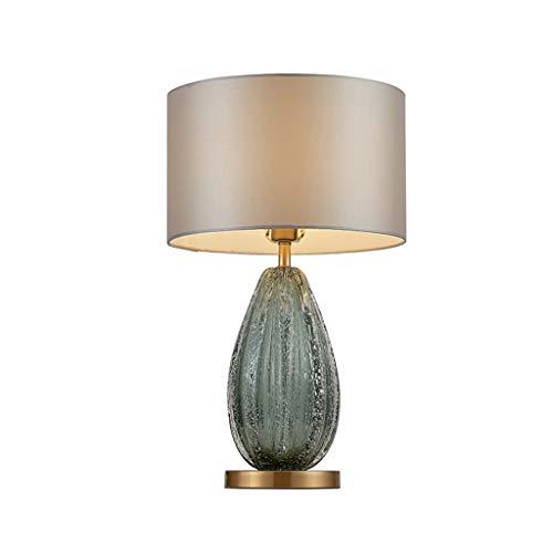 C-J-X TABLE LAMP C-J-Xin Wohnzimmer Tischlampe, Dunkelgrün Blase Glas Chromuntertischleuchte Modern Licht Upscale Schreibtischlampe Musterraum Hotel Leselampe Innenbeleuchtung (Color : A)