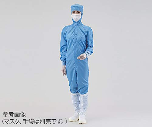 アズワン クリーンスーツ(オールインワン) 4L 青 シューズ29cm /4-406-14