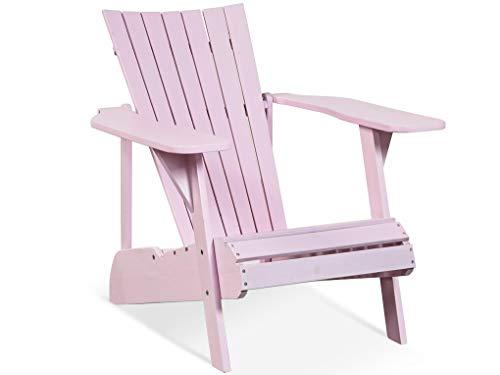 LANTERFANT 7439623654681 Adirondack Fred, Silla de jardín, sillón salón Madera de Acacia, Disponible en Cinco, Color Rosa, 70 x 90 x 80