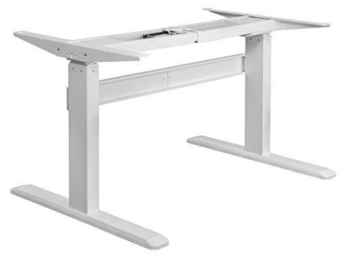 Exeta Elektrisch höhenverstellbarer Schreibtisch (Vers. 2020) mit 2 Motoren, 3-fach-Teleskop,Memory-Funkt. und Softstart/-Stopp, elektrisch höhenverstellbares Tischgestell – für gängige Tischplatten