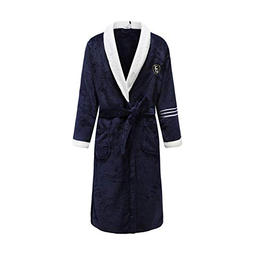 Luxury Long Home Wear Robe Bathrobe Pajamas Solid Colour Intimate Lingerie Coral Fleece Home Dressing Gown Young Lady Kimono Bathrobe Gown with Belt Sleepwear Home Clothing Bathrobe