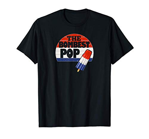Camiseta divertida del día de los padres Cool Dad Bombest Pop Retro 80s Dad T-Shirt