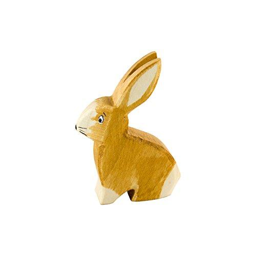 Holzspielwaren Ackermann Hase aus Holz (sitzend) – Wald Holzspielzeug, aus Schwäbischer Handarbeit (100% ökologisch)
