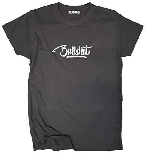 Wolkenbruch® T-Shirt Bullshit, dunkelgrau, Gr.3XL