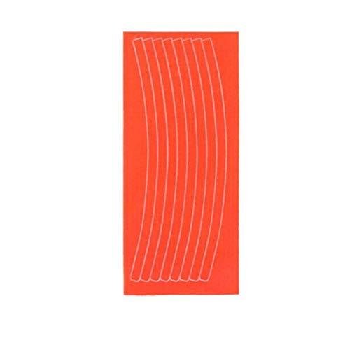 KUCHE Mountain Bike Bicycle Rim Reflective Decal Protector Safety Mountain Bike Reflector (Color : Orange)