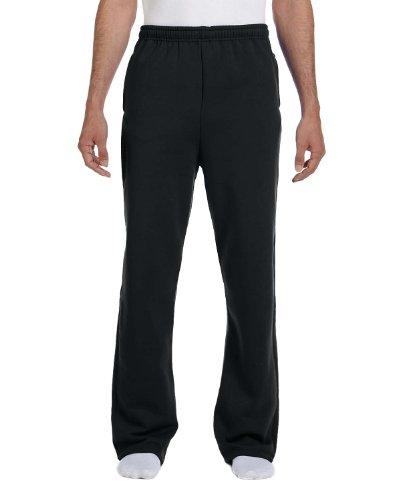 Jerzees Open Bottom Sweatpants (974MP) Black - 3XL