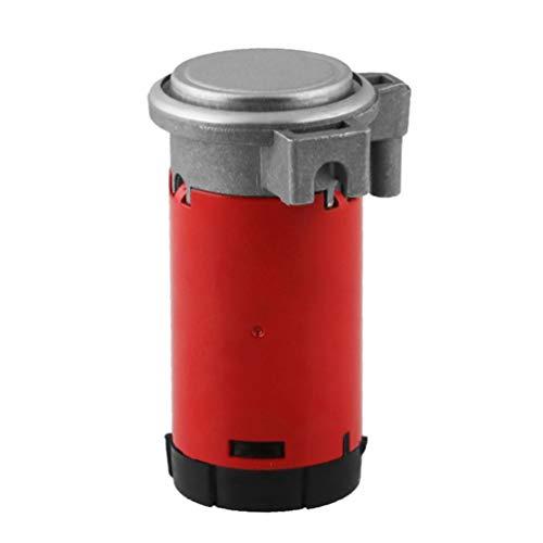 Compresor de Aire portátil de 12 V, bocina de Aire para Coche/camión/vehículo, Bomba de Aire, bocina de Caracol, compresor de Bomba(Rojo)