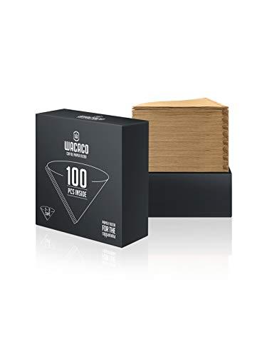 WACACO Filtri Caffe Americano in Carta per Cuppamoka, 1-2 Tazze, Fibre di Legno Naturale, 200 Conte