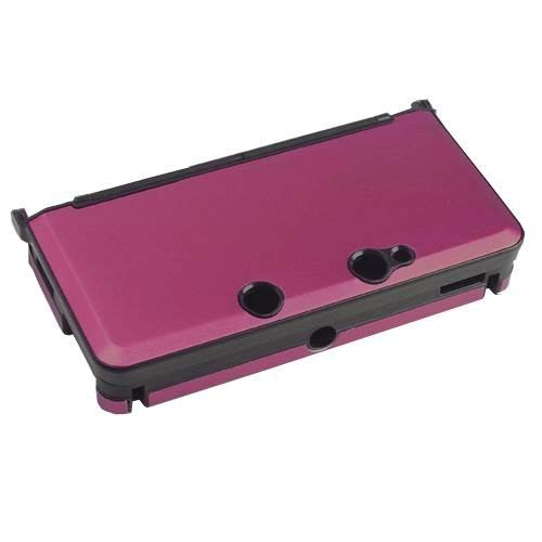 OSTENT ANTI-SHOCK HARD ALUMINUM METAL BOX COVER CASE SHELL COMPATIBLE FOR NINTENDO 3DS CONSOLE COLOR RED