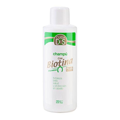 Cuidados Champú capilar de biotina y keratina. Champú fortalezedor con vitamina B7. Reduce la caida del cabello. Fortaleza y protección del cabello- 1000 ml