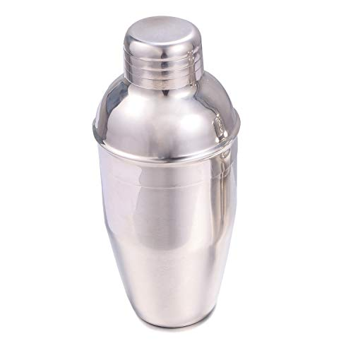 MJULY Cocktail Martini Shaker Drink Mixer Wine Shakers With Strainer for Bar Home Use,Mini Handheld Size (11.8oz(350ml))