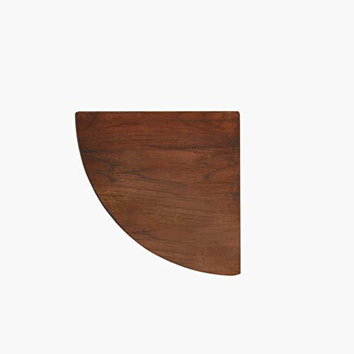L&T Eckregal Massivholz, Verdicken Wandmontage Eck-wandregal Wandregal Wandboard Aufbewahrungs- Für Bücher Pflanzen-walnuss 18cm(7inch)