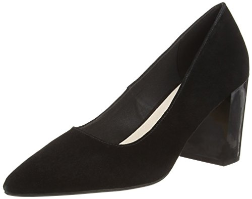 Bianco Damen Suede Pump Pumps, Schwarz (Black 101), 40 EU