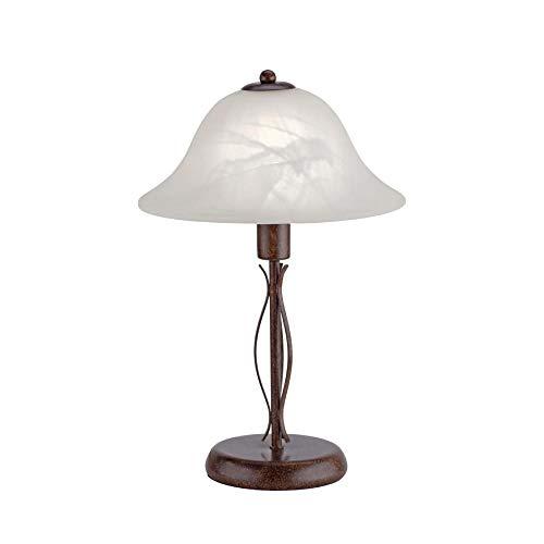 Tischlampe, IP 20, Vintage, Tischleuchte, Edel-Rost, Romantik, rustikal, LED fähig, E14-Fassung...