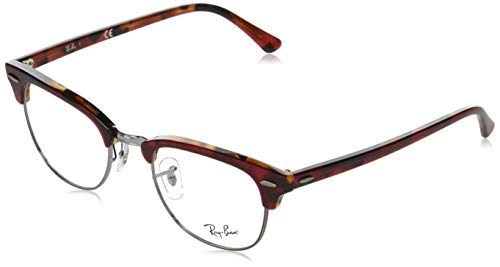 Ray-Ban Clubmaster Gafas de lectura, Red, 49 Unisex Adulto