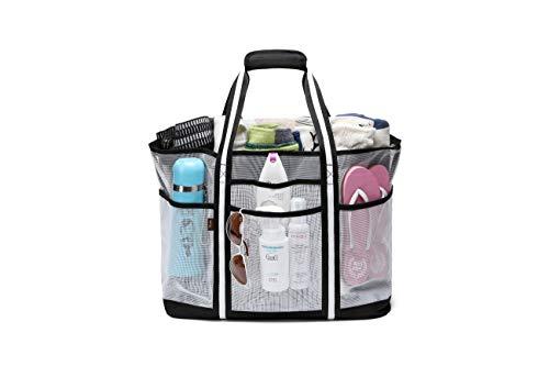 Acmebon Durable Large Mesh Beach Bag for Women, Tote Bag, Gym Bag with...