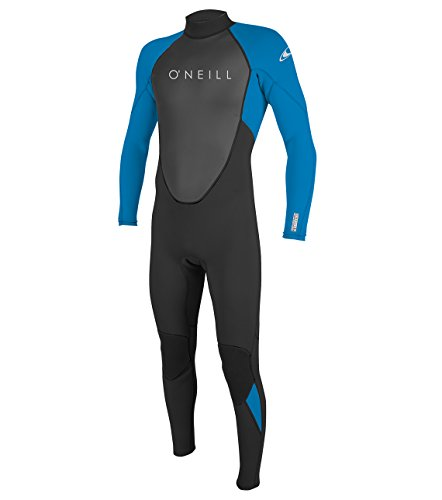 O'Neill Men's Reactor-2 3/2mm Back Zip Full Wetsuit, Black/Ocean, L