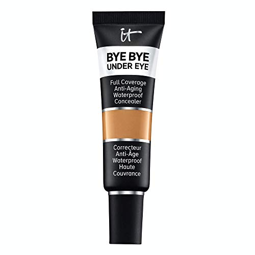 of it cosmetics concealers IT Cosmetics Bye Bye Under Eye, 34.5 Rich Golden (W) - Full-Coverage, Anti-Aging, Waterproof Concealer - Improves the Appearance of Dark Circles, Wrinkles & Imperfections - 0.4 fl oz
