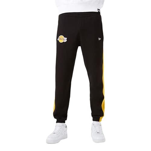 A NEW ERA NBA Team Logo Jogger LOSLAK Blk Pantaloni, Nero, XL Uomo