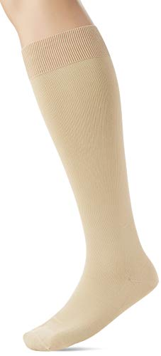 FALKE Herren Kompression Kniestrümpfe Energizing Cotton, Baumwollmischung, 1 Paar, Beige (Sand 4320), Größe: 43-44