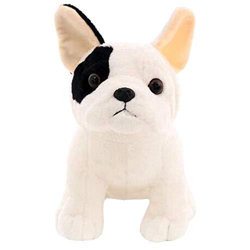 LuLezon Bulldog Francés Peluche Sentado Pose Mascota Perro Peluche Muñeca para Niños Regalo 22 CM