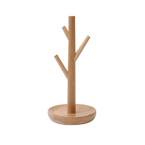 Soporte para collares de mesa Soporte para árbol de joyería para collares, pulseras, brazaletes y anillos Soporte de exhibición de joyería de madera Soporte y exhibición de joyería para colgar en